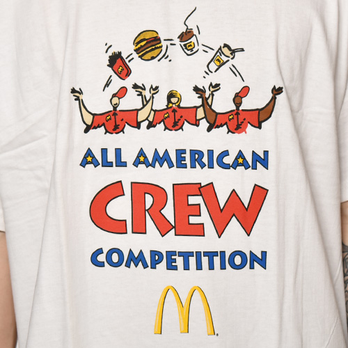 McDonald's/Official S/S T-Shirt/Dead Stock(マクドナルド Tシャツ)ホワイト [a-3847]