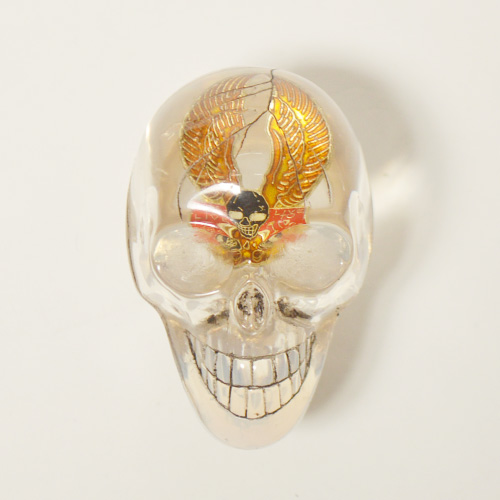 The Spooky Skull Shift Knob×Vintage Pins(スカルシフトノブ×ヴィンテージピンズ) [a-4708]
