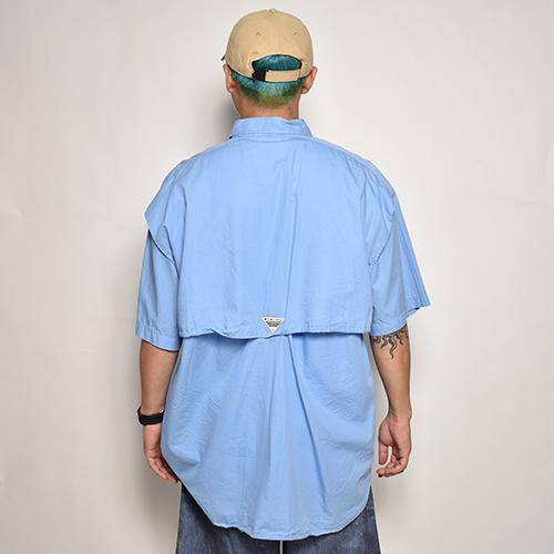 ・Columbia Sportswear/S/S PFG Fishing Shirt(コロンビア フィッシングシャツ)ブルー/サイズL [z-5557]