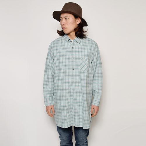・EU Long Length Shirt(ヨーロッパ ロングレングスシャツ)グリーン×グレー [u-9184]