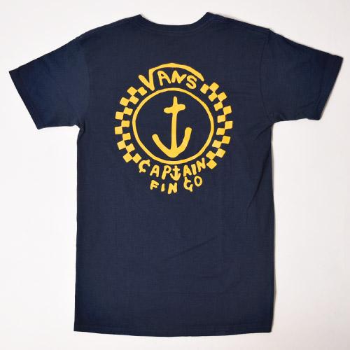 Vans/Captain Fin Anchor T-Shirt(バンズ Tシャツ)ネイビー [a-1094]