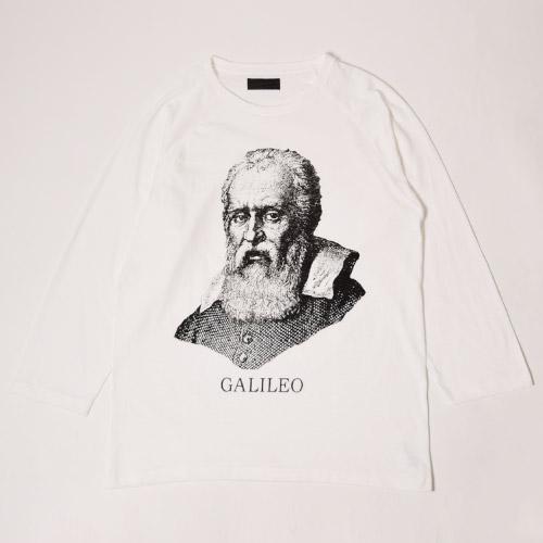 Far Eastern Enthusiast/Great Men 8/10 Sleeve Raglan Cut&Sewn/Galileo(ファー イースタン エンスージアスト ラグランカットソー)ホワイト×ブラック [a-1107]