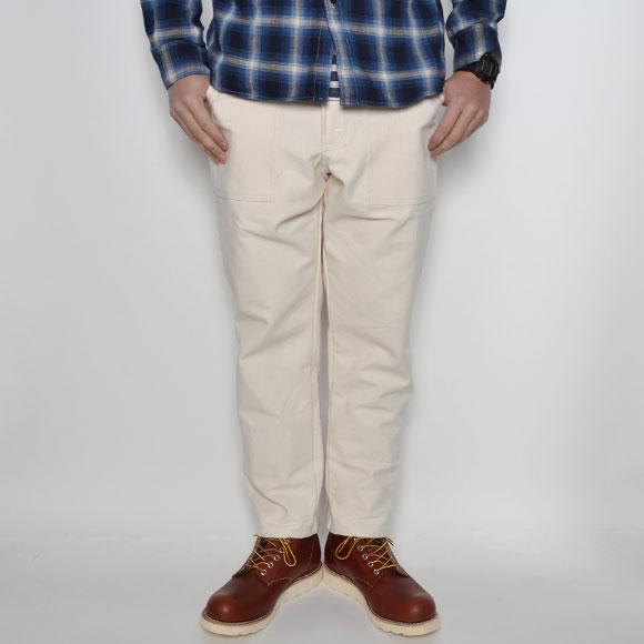 Smith's American×US/Jodhpurs Style Pants(スミス×アス 九分丈ロールアップパンツ)ホワイト×チェック [n-7863]