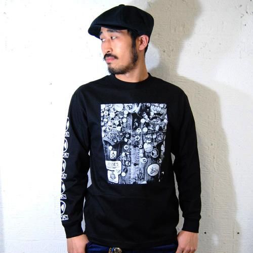 The Driven Skateboards/Jason`s Private Photo Series L/S T-shirt/Denim Vest(ドリブンロングスリーブTャツ)ブラック[n-6498]