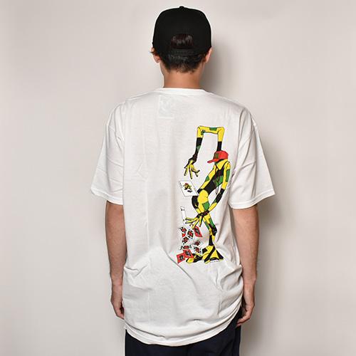 Powell Peralta/Ray Barbee Rag Doll T-Shirt(パウエル Tシャツ)ホワイト [a-3755]