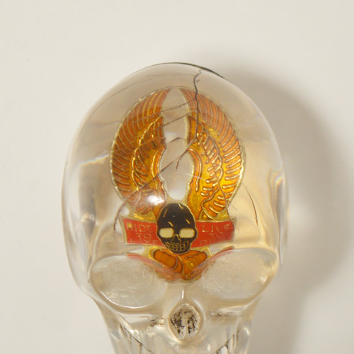 The Spooky Skull Shift Knob×Vintage Pins(スカルシフトノブ×ヴィンテージピンズ) [a-4709]