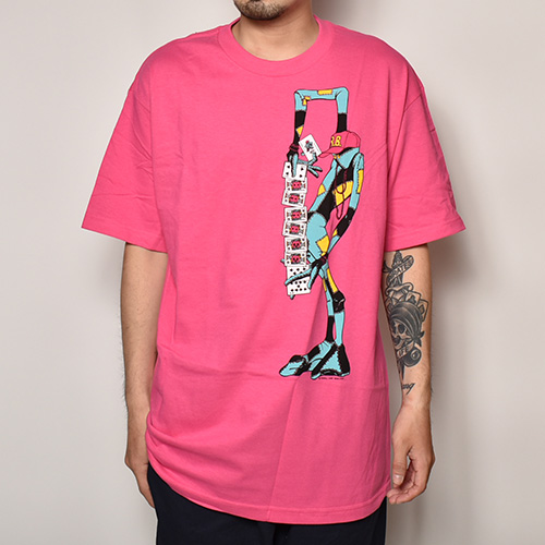 Powell Peralta/Ray Barbee Rag Doll T-Shirt(パウエル Tシャツ)ピンク [a-3756]