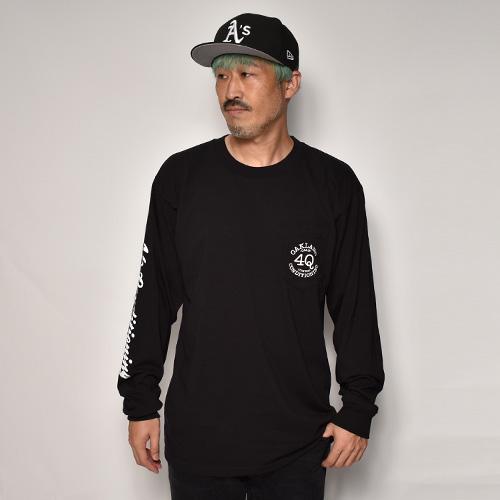 4Q Conditioning×US/L/S Logo Pocket T-Shirt(4Q×アス ポケットTシャツ)ブラック [a-5280]