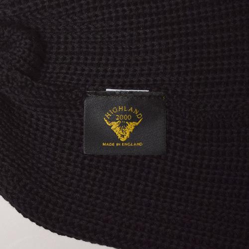 Highland 2000×US/Cotton Watch Cap(ハイランド2000 ワッチキャップ)ブラック [a-3380]