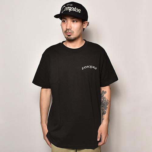 Joker's Skate Shop/Eagle Tattoo Logo T-Shirt(ジョーカーズスケートショップ Tシャツ)ブラック [a-3835]