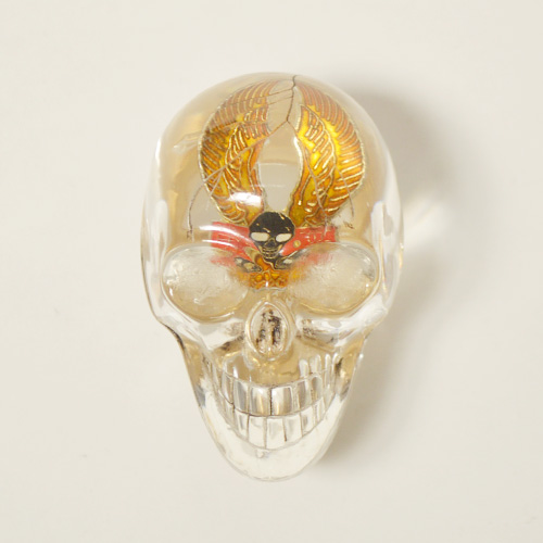 The Spooky Skull Shift Knob×Vintage Pins(スカルシフトノブ×ヴィンテージピンズ) [a-4711]
