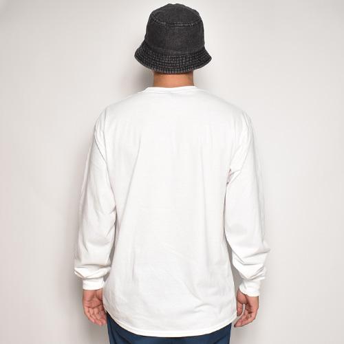 Hot Wheels Logo L/S T-Shirt(ホットウィールズ Tシャツ)ホワイト [a-5281]