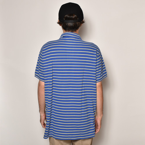 ・Polo Ralph Lauren/S/S Polo Shirt(ラルフローレン ポロシャツ)ブルー×イエロー/サイズXL [z-3897]
