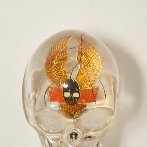 The Spooky Skull Shift Knob×Vintage Pins(スカルシフトノブ×ヴィンテージピンズ) [a-4712]