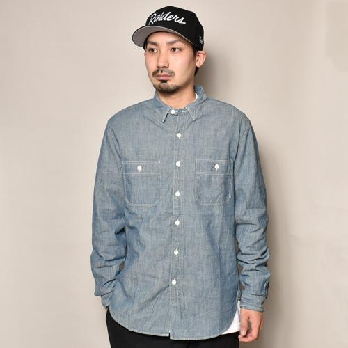 ・J.Crew/L/S Chambray Shirt(ジェイクルー シャンブレーシャツ)ネイビーシャンブレー/サイズM [z-3423]