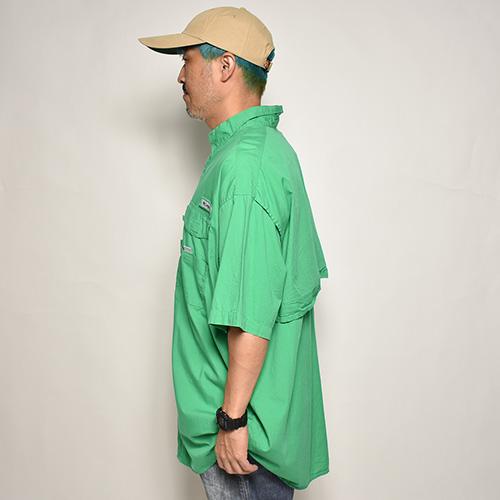 ・Columbia Sportswear/S/S PFG Fishing Shirt(コロンビア フィッシングシャツ)グリーン/サイズXL [z-5562]