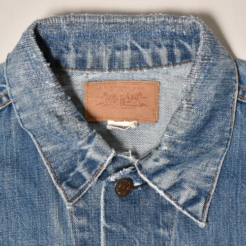 ・Levi's/Denim Trucker Jacket/70505 Big E(リーバイス デニムジャケット)インディゴ/身幅58cm [z-3153]