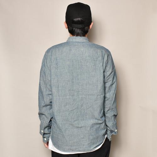 ・J.Crew/L/S Chambray Shirt(ジェイクルー シャンブレーシャツ)ネイビーシャンブレー/サイズM [z-3424]