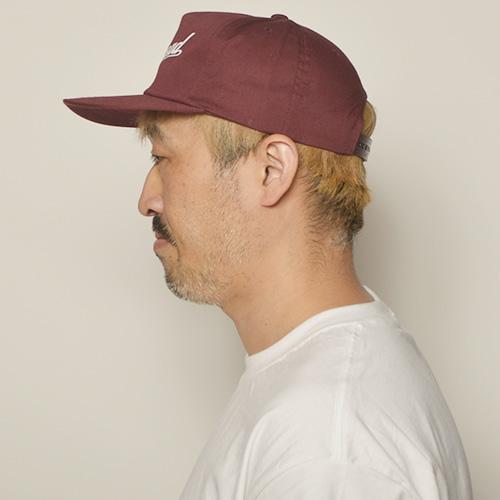 Shithead Snapback Cap(シットヘッド キャップ)バーガンディ [a-4714]