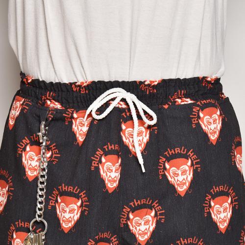 Run Thru Hell Devil Easy Short Pants(デビルイージーショートパンツ)ブラック×レッド [a-4841]