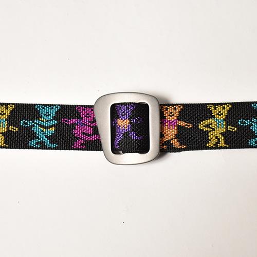 Bison Designs×Grateful Dead/Dead Bear Web Belt(バイソン×グレイトフルデッド ベルト)ブラック [a-5047]