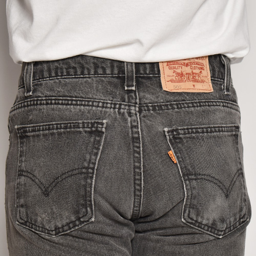 ・Levi's/505 Jeans/Made in USA(リーバイスUSA 505ジーンズ)ブラック/サイズW30 [z-5592]