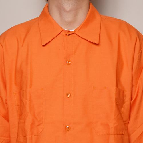 Red Kap×US/L/S Wide Silhouette Work Shirt(レッドキャップ×アス ワイドシルエットシャツ)オレンジ [a-3445]