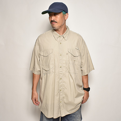 ・Columbia Sportswear/S/S PFG Fishing Shirt(コロンビア フィッシングシャツ)ベージュ/サイズXL [z-5564]