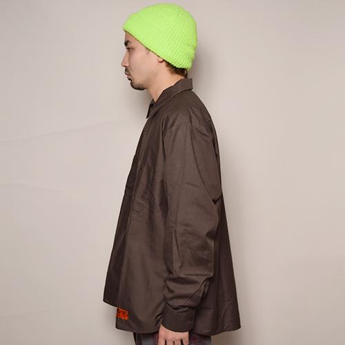 Red Kap×US/L/S Wide Silhouette Work Shirt(レッドキャップ×アス ワイドシルエットシャツ)ブラウン [a-3446]