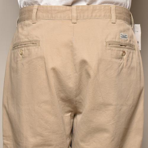 ・Polo Ralph Lauren×US/Cropped 2Tuck Chino Pants(ラルフローレン×アス クロップドチノパンツ)ベージュ/サイズW33 [z-3587]