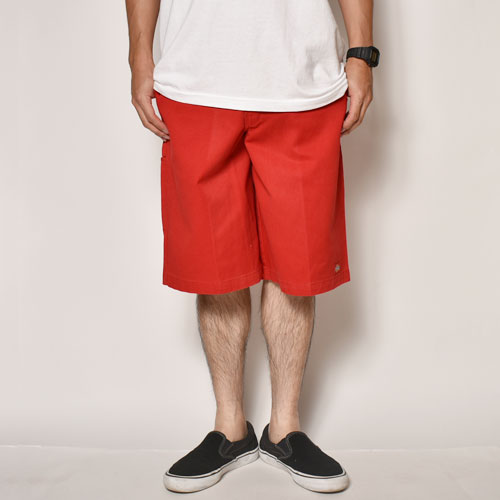 ・Dickies/13inch Work Shorts(ディッキーズ ワークショーツ)レッド [z-3964]