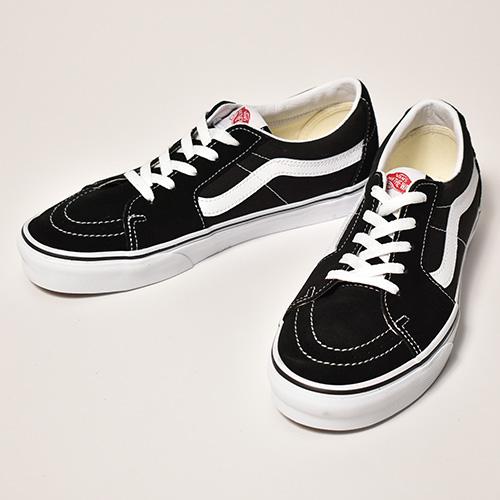 Vans/Sk8-Low(バンズ スケートロー)ブラック×ホワイト [a-4241]