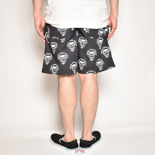 Run Thru Hell Devil Easy Short Pants(デビルイージーショートパンツ)ブラック×ホワイト [a-4842]