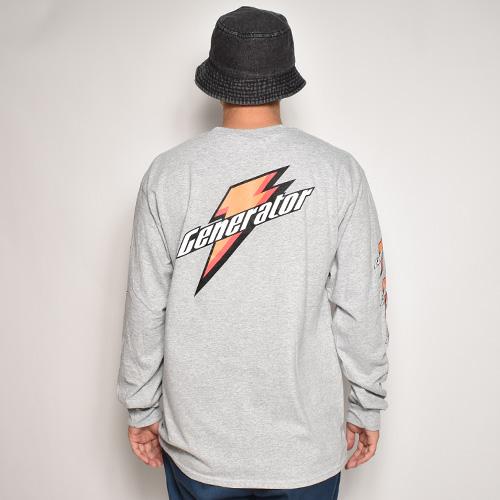 Generator L/S T-Shirt(ジェネレーター Tシャツ)ヘザーグレー [a-5286]