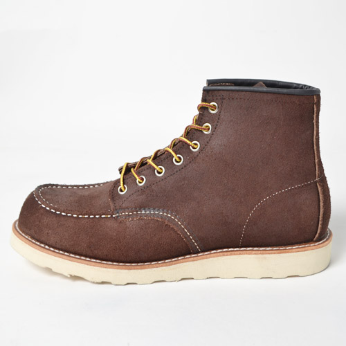 "Red Wing/6"" Moc Toe Suede Boots(レッドウィング 6インチモックトゥブーツ)ダークブラウン [n-8753]"
