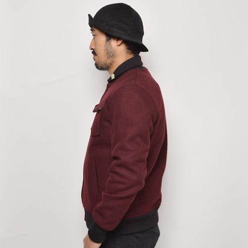 Fidelity/Wool Military Baseball Jacket(フィデリティー ウールベースボールジャケット)バーガンディ [n-9588]