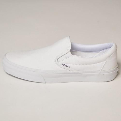 Vans/Classic Slip-on(バンズ スリッポン)トゥルーホワイト [n-9827]