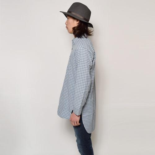 ・EU Long Length Shirt(ヨーロッパ ロングレングスシャツ)ブルーグレー [u-9179]