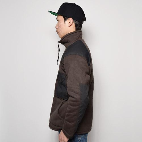 ・US Military/Cold Weather Fleece Jacket(USミリタリー フリースジャケット)ブラウン×ブラック [u-9511]