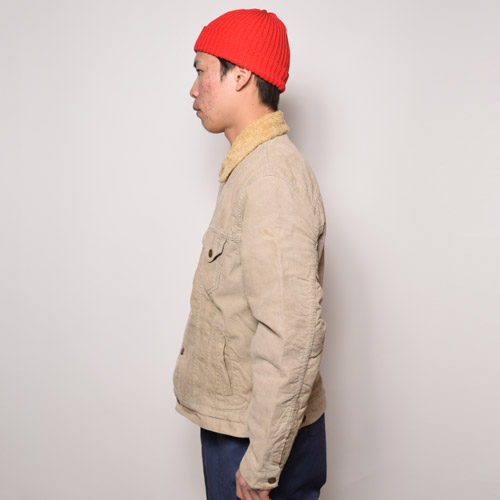 ・Levi's/Corduroy Boa Jacket(リーバイス コーデュロイボアジャケット)ベージュ/サイズM [u-9516]