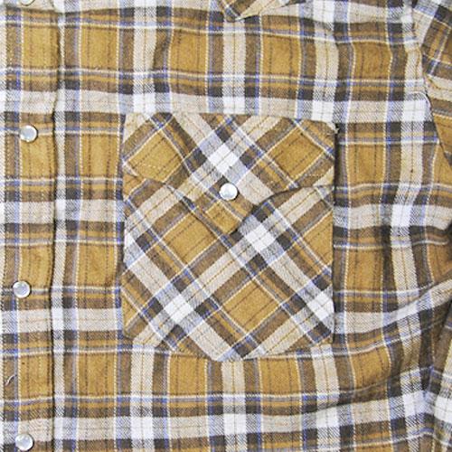 Ely&Walker/Light Flannnel Shirts/Right Brown×Beige [n-3346]