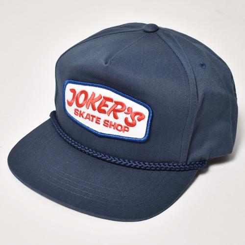 Joker's Skate Shop/Classic Logo Cap(ジョーカーズスケートショップ キャップ)ネイビー [a-2928]