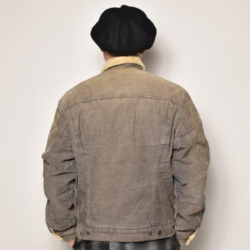 ・Levi's/Cordury Boa Jacket(リーバイス コーデュロイボアジャケット)グレー/サイズXL [z-4849]