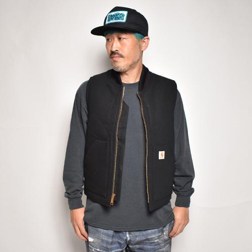 Carhartt/Duck Insulated Vest(カーハート ダックベスト)ブラック [n-0809]