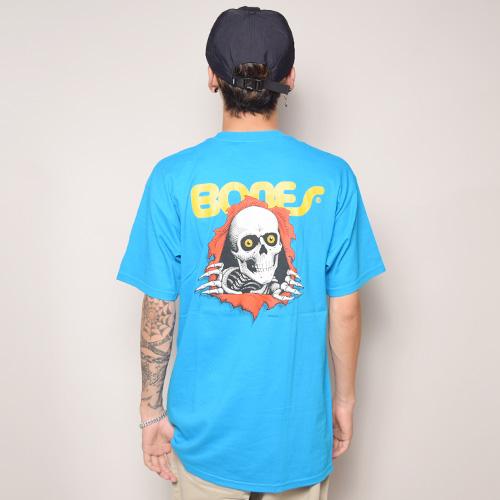 Powell Peralta/Ripper T-Shirt(パウエル Tシャツ)ターコイズブルー [a-2573]
