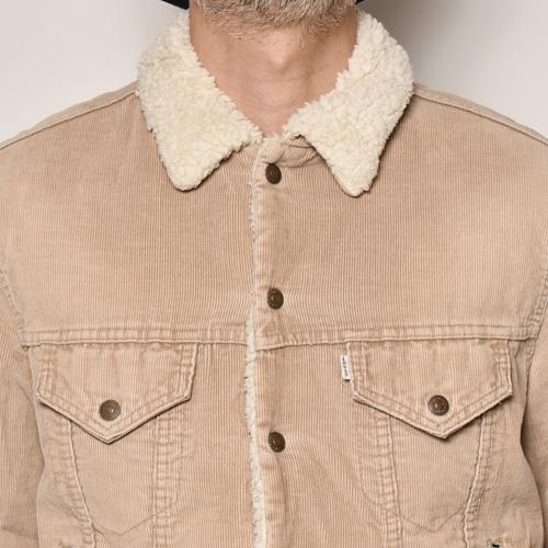 ・Levi's/Cordury Boa Jacket(リーバイス コーデュロイボアジャケット)ライトブラウン/サイズ42 [z-4852]