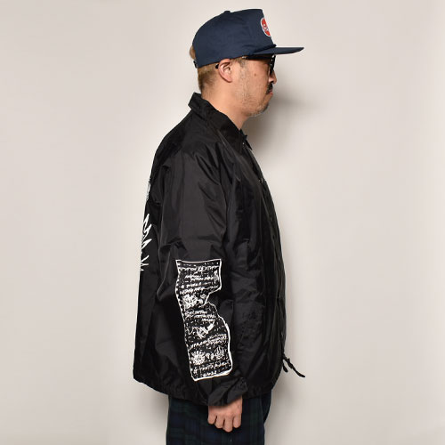 US×TATTOO STUDIO YAMADA Exclusive Coach Jacket(アス×タトゥースタジオヤマダ コーチジャケット)ブラック×ホワイト [a-4682]