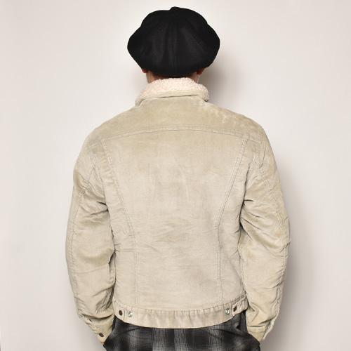 ・Levi's/Boa Jacket(リーバイス ボアジャケット)グレー/サイズ40 [z-4853]