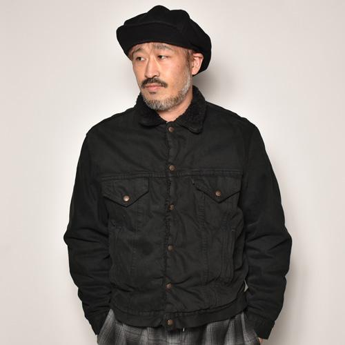 ・Levi's/Over Dyed Boa Jacket(リーバイス オーバーダイボアジャケット)ブラック/サイズ40相当 [z-4854]