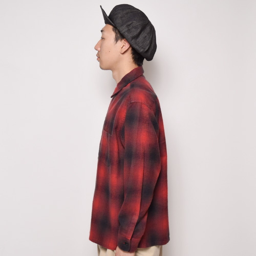 Penney's/L/S Light Flannel Shirt(ペニーズ チェックシャツ)レッド×ブラック [a-2286]